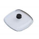 Крышка стеклянная для сковороды гриль квадратная