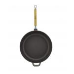 Сковорода чугунная в коричневом эмалированном покрытии