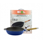 Сковорода чугунная в эмалированном синем покрытии