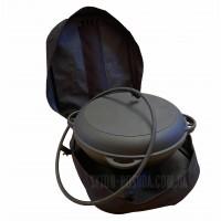 Набор <<Походный-2>> из казана татарского чугунного с крышкой-сковородой, тагана и сумки