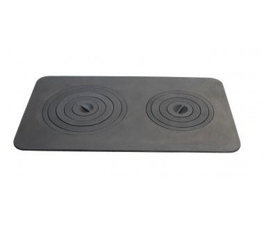 Плита печная чугунная на две конфорки