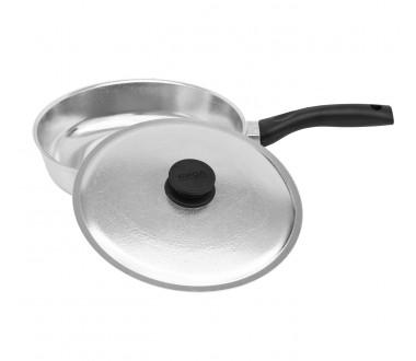 Сковорода <<Атлас Блеск>> средняя алюминиевая с крышкой