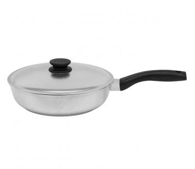 Сковорода высокая с крышкой линии Блеск