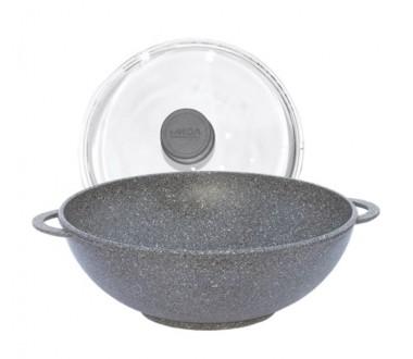 Сковорода WOK <<Гранит Грей>> антипригарная