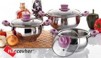 """Компания """"Hascevher Metal"""", производитель посуды из нержавеющей стали, керамики и гранита."""